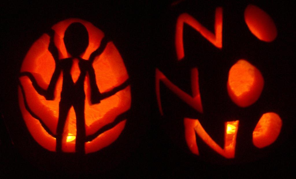 Slender pumpkin dark by killallthezombies on deviantart