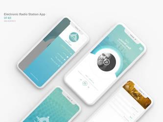 Electronic Radio Station App UI kit 2 by ahmedmakky
