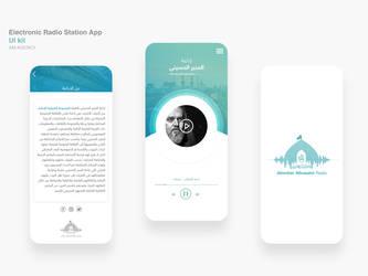 Electronic Radio Station App UI kit 3 by ahmedmakky