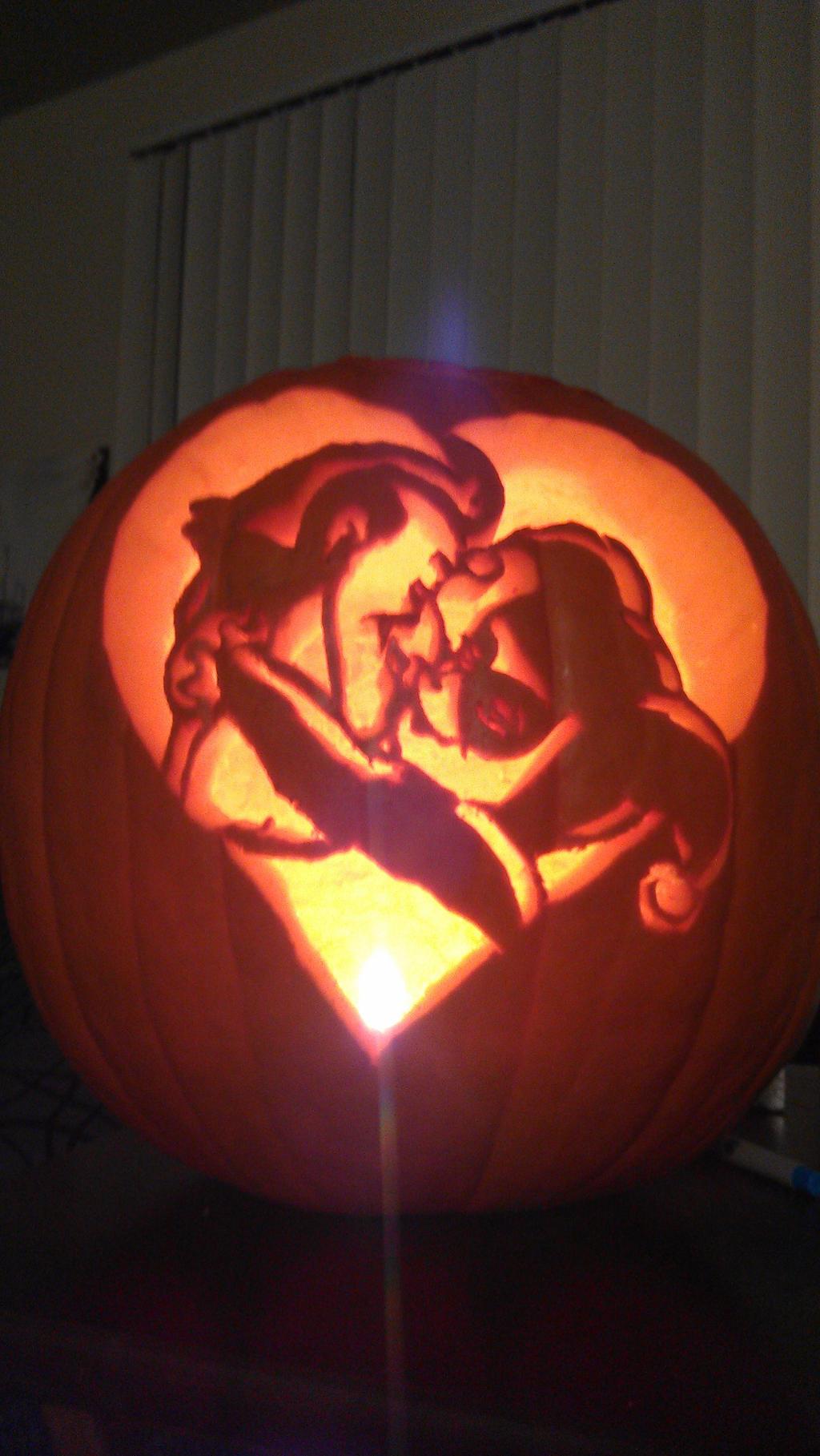 Joker and harley pumpkin dark by shimmyjamily on deviantart