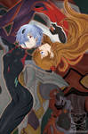Evangelion Rebuild - Rei and Asuka