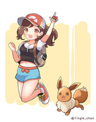 Pokemon Let's go! eevee by Tinglechan