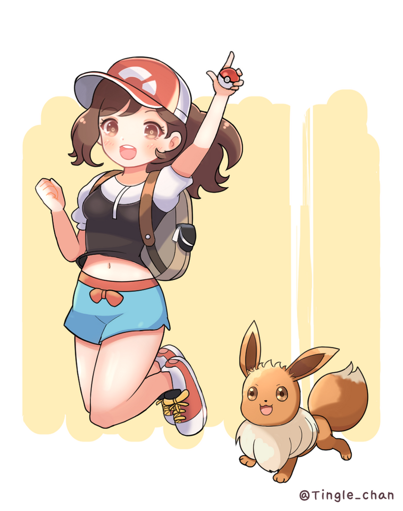 Pokemon Let's go! eevee by Tinglechan
