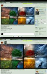 My dA Deviation Page Concept by TigerK0690