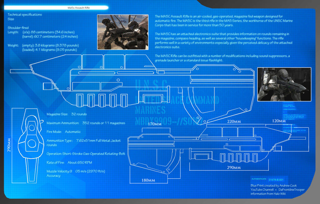 Halo 3 ma5c assault rifle blueprints by dft by cpcody on deviantart halo 3 ma5c assault rifle blueprints by dft by cpcody malvernweather Gallery