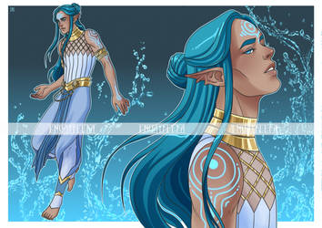 Water Mage Adopt - OPEN! by Envatillia