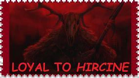 Hircine Fan Stamp by RoseOfTheNight4444