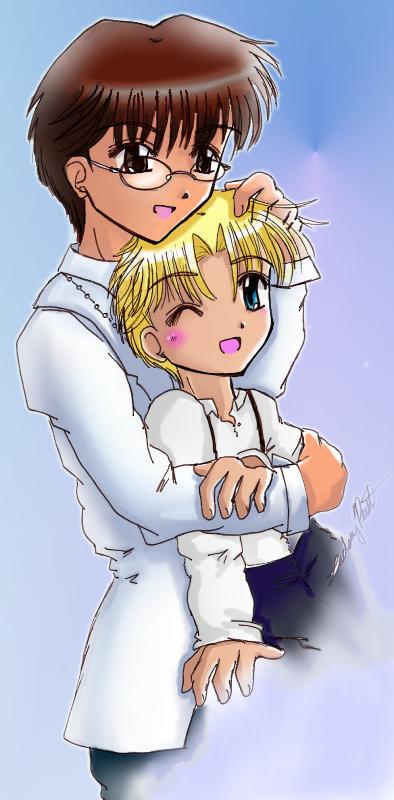 TMM: Ryou + Jishou huggle by ellana