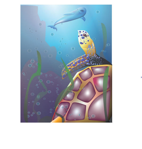 Vector - Underwater Scene by ellana