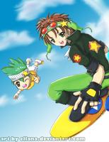 Shugo Chara: Sky Jack + Daichi by ellana
