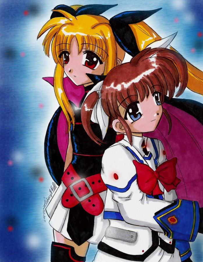 MGLN A's - Nanoha and Fate by ellana