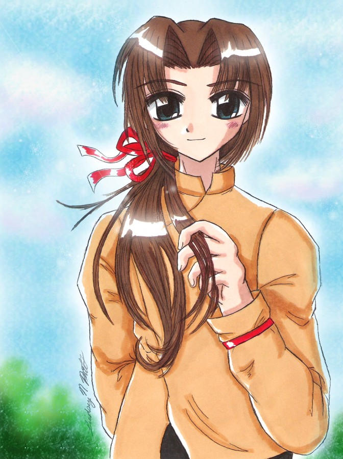 Hika Yagami - Young Keiichiro by ellana