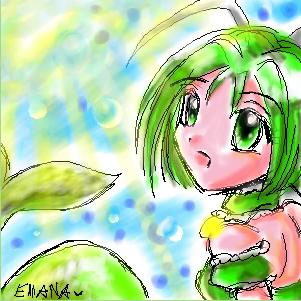 Mew Lettuce Oekaki by ellana
