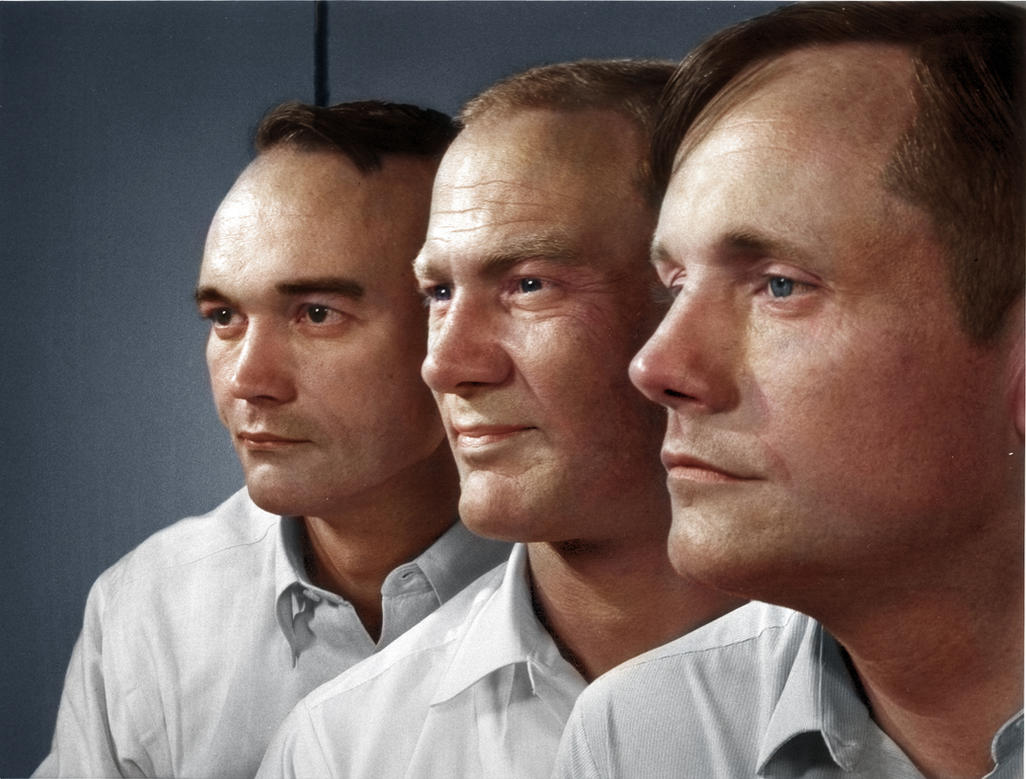 Michael Collins, Buzz Aldrin, and Neil Armstrong by ...