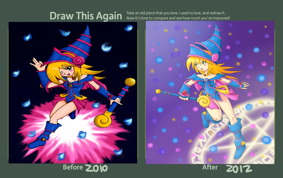 Draw This Again Contest Entry: Dark Magician Girl by Aimiotakuzero