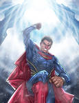 Man of Steel - Destroying the World Engine