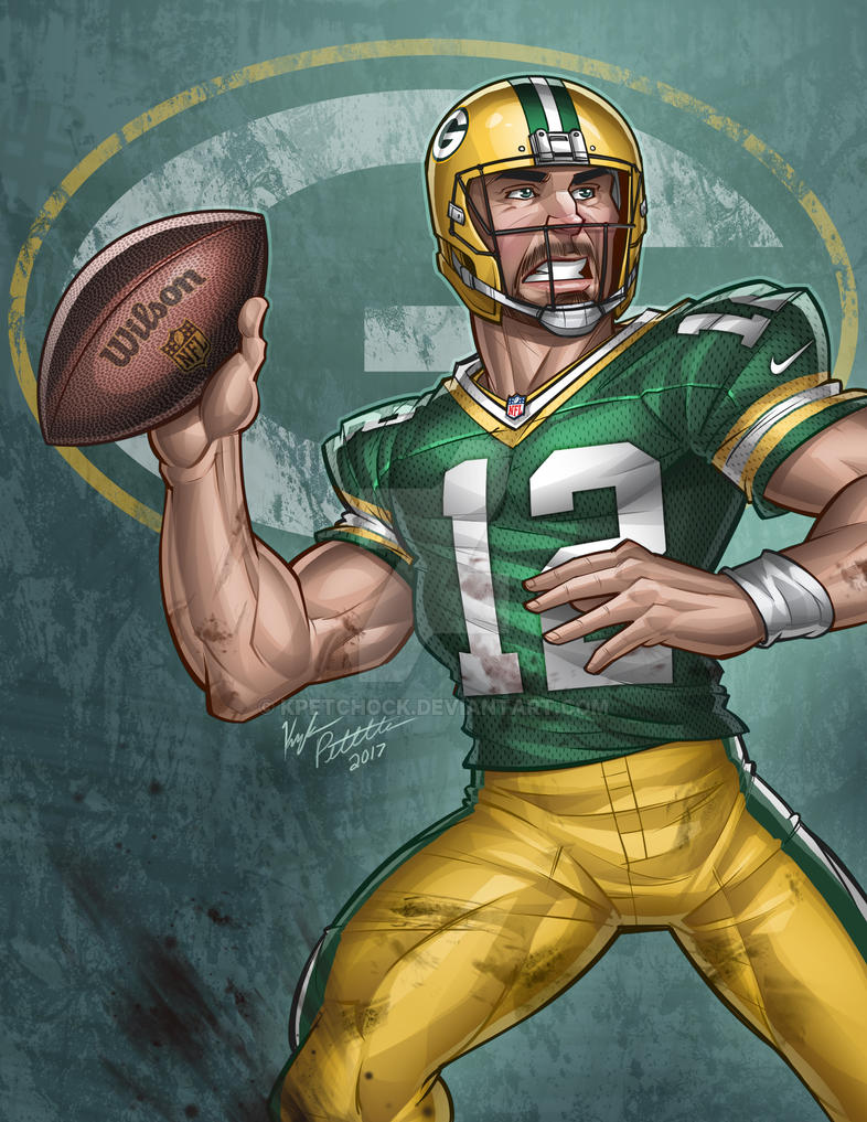 Aaron Rodgers by kpetchock