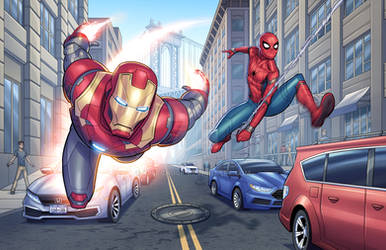 Iron Man/Spider-Man Fan Art Re-Boot from 2017