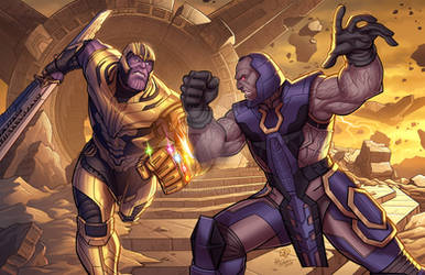 Thanos Vs. Darkseid - Marvel / DC Crossover