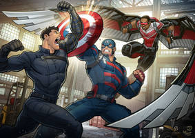 Falcon and Winter Soldier Collab w Patrick Brown