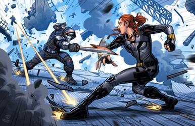 Black Widow Vs Taskmaster
