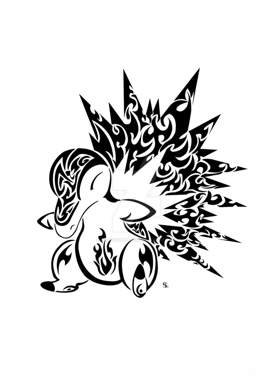 Tribal Cyndaquil by Friend-Owl