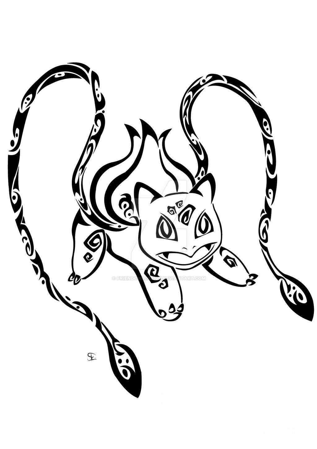 Tribal Bulbasaur Commission by Friend-Owl