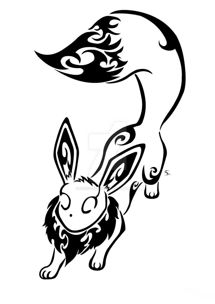Tribal Eevee Commission by Friend-Owl