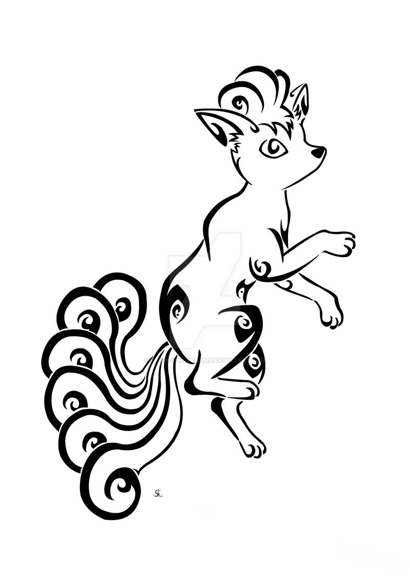Tribal Vulpix Commission by Friend-Owl