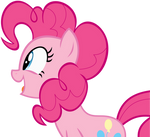 Pinkie Pie excited vector