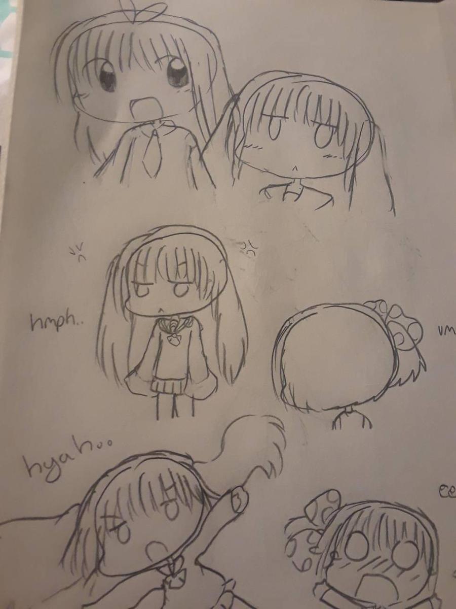 yori, momo, and tomoko by tackytuesday