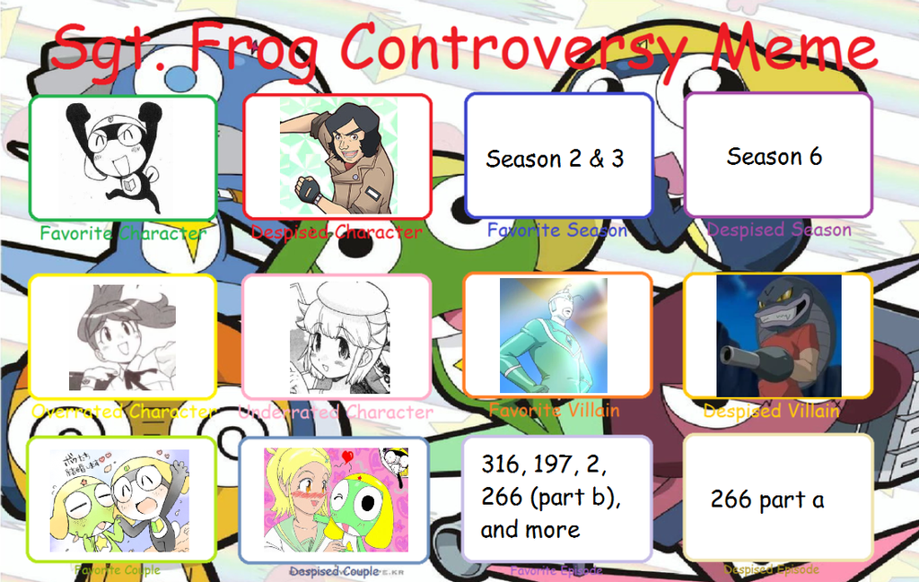 Sgt Frog Controversy Meme by tackytuesday