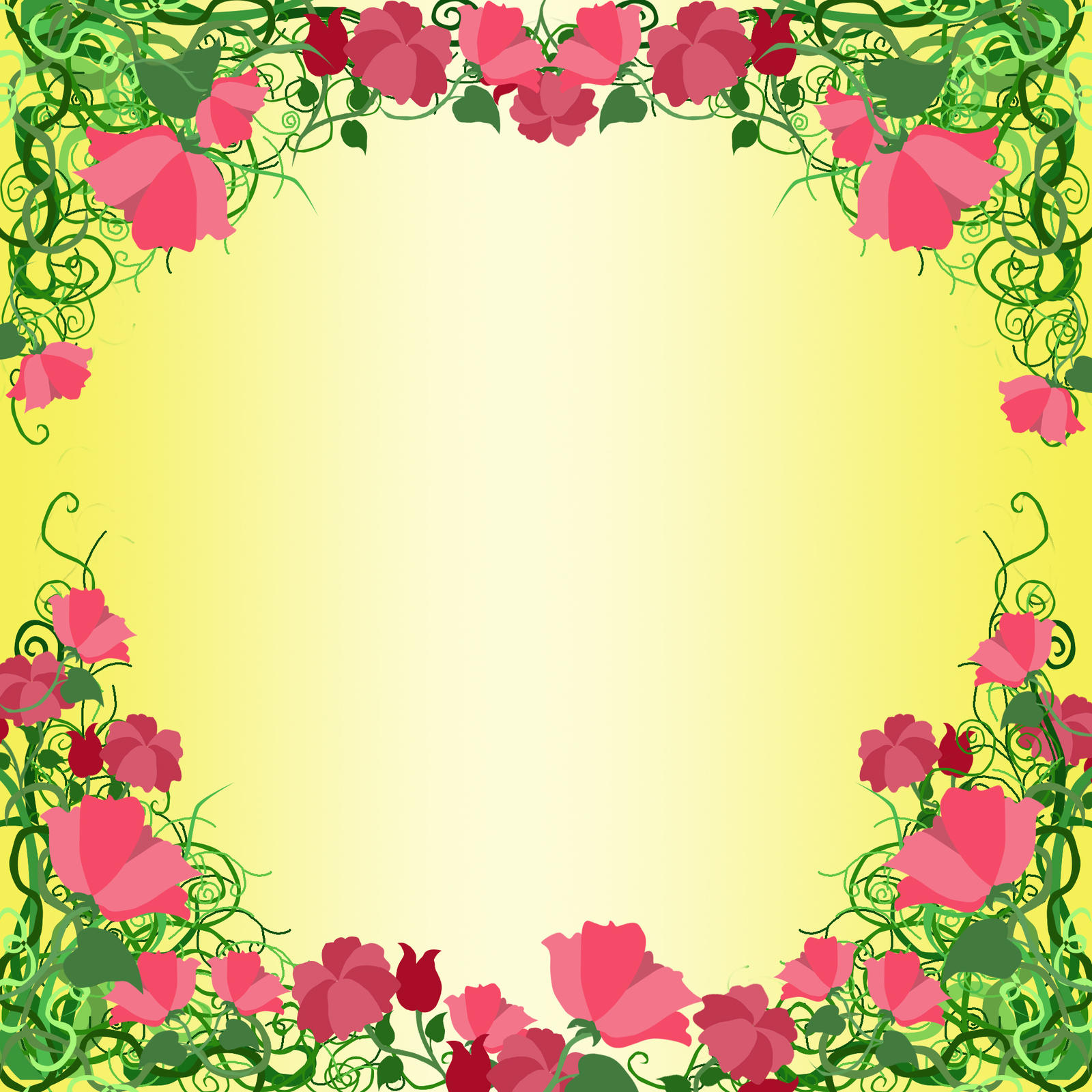 frame by ozaidesigns scraps 2009 2014 ozaidesigns yellow rose frame ...