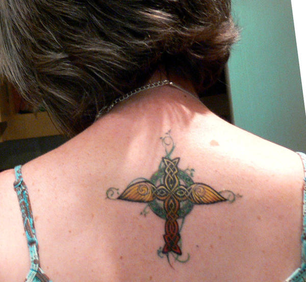 Independence Cross Tattoo