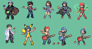 Pokemon Trainer Sprite Set 1+2 by HoboJoe0858