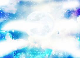 Luar Azul - Starry moon Wallpaper by wansun