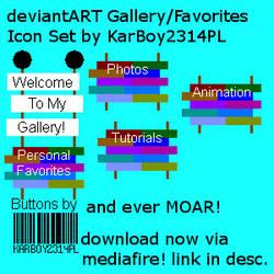 KarBoy2314PL's dA Gallery/Favorites Icon Set! by KarBoy2314PL