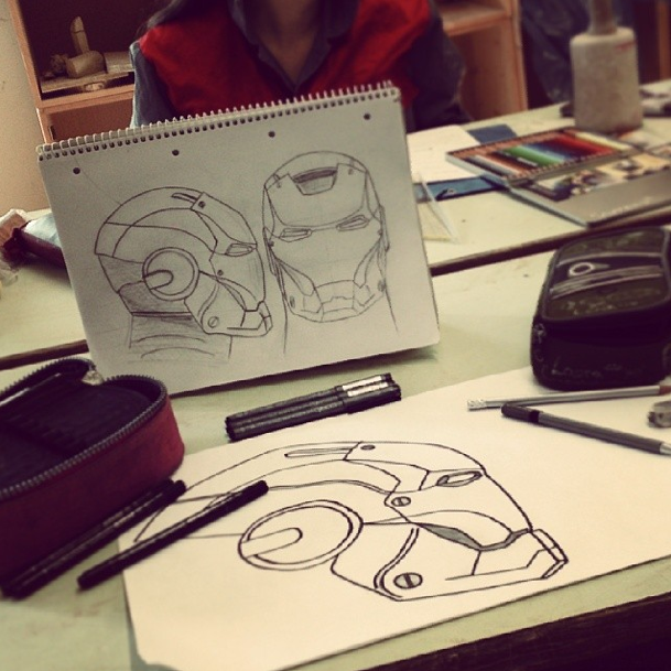 Ironman Head Sketches by olivia-miriam