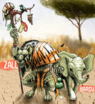 Zall and Baasu by SebastianDuke