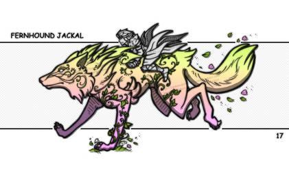 Inktober 17 - Fernhound Jackal by emerald-eyez333