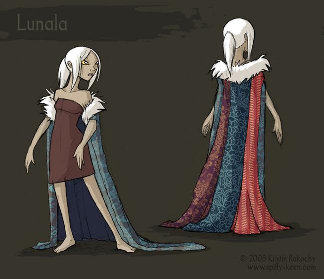Character Design- Lunala by shadeykris