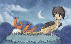 Panya and Salamanders by shadeykris