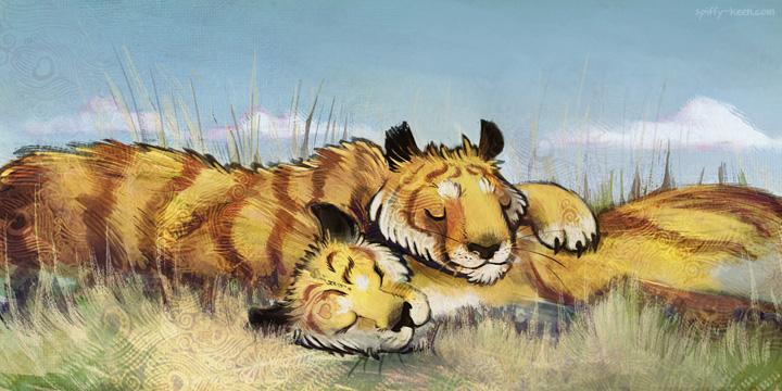 Sun Tigers by shadeykris