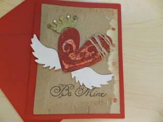 Be Mine Handmade Valentine Card by Mikomi-Hatake