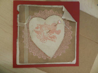 Vintage Cupid Handmade Card by Mikomi-Hatake
