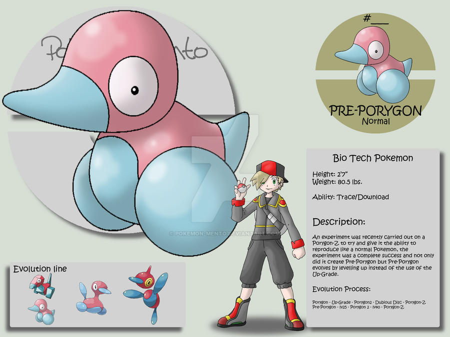 Pre-Porygon by Pokemon-Mento on DeviantArt