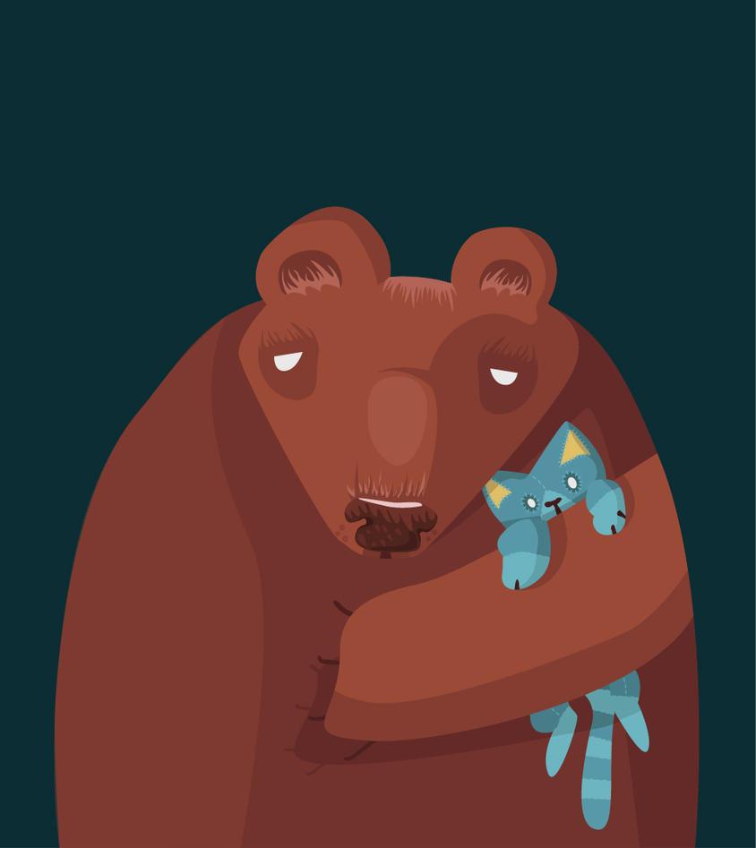 Day 72: Sleepy bear by ysyra
