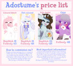 [ OPEN ] COMMISSIONS PRICE LIST