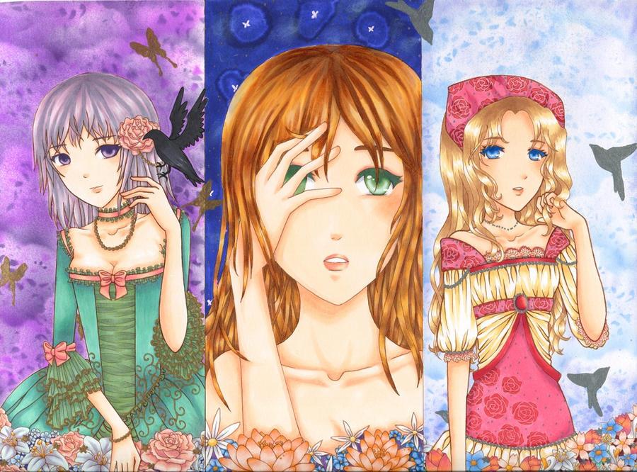 Triptych by Haruhi13