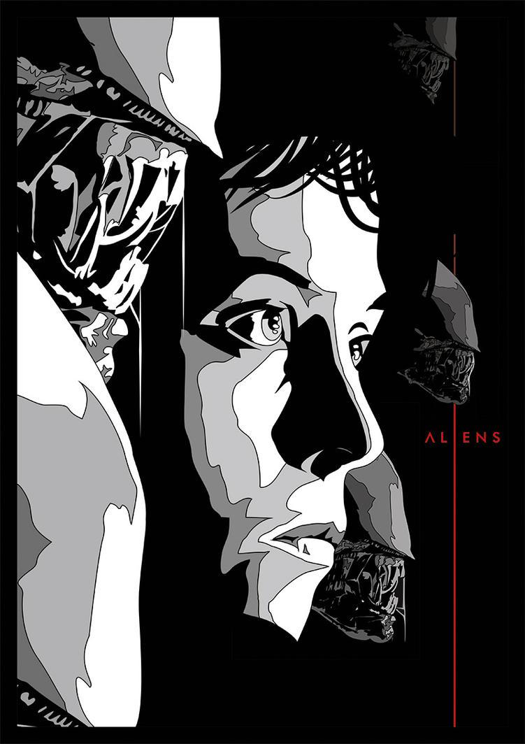 aliens alternative movie poster by lafar88 on deviantart